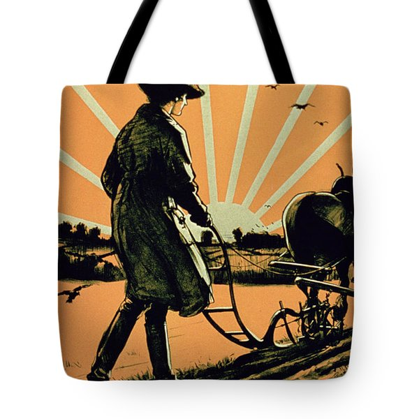 God Speed The Plough And The Woman Who Drives It Tote Bag