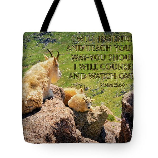 God Will Watch Over You Tote Bag