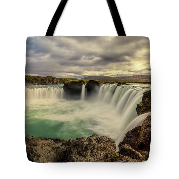 Tote Bag featuring the photograph Godafoss In Late Afternoon by Rikk Flohr