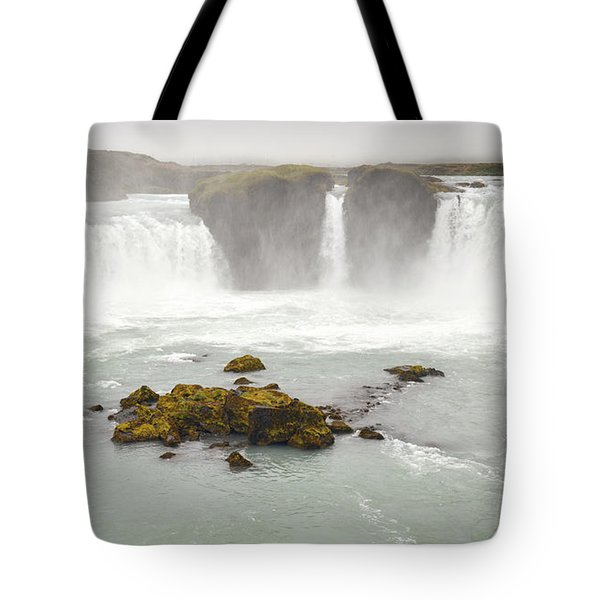 Tote Bag featuring the photograph Godafoss by Joe Bonita