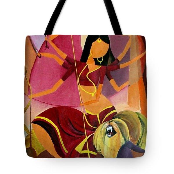 Goddess Durga Tote Bag by Amrita M