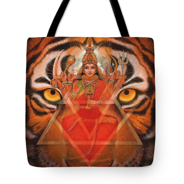 Goddess Durga Tote Bag by Sue Halstenberg