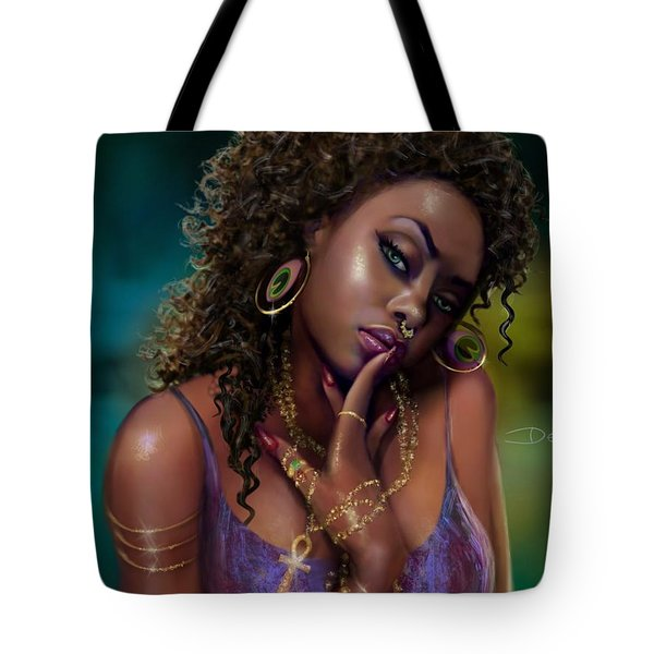 Tote Bag featuring the digital art Goddess Kali by Dedric Artlove W