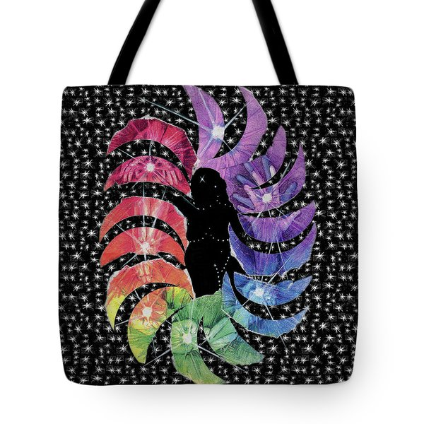 Tote Bag featuring the mixed media Goddess by Kym Nicolas