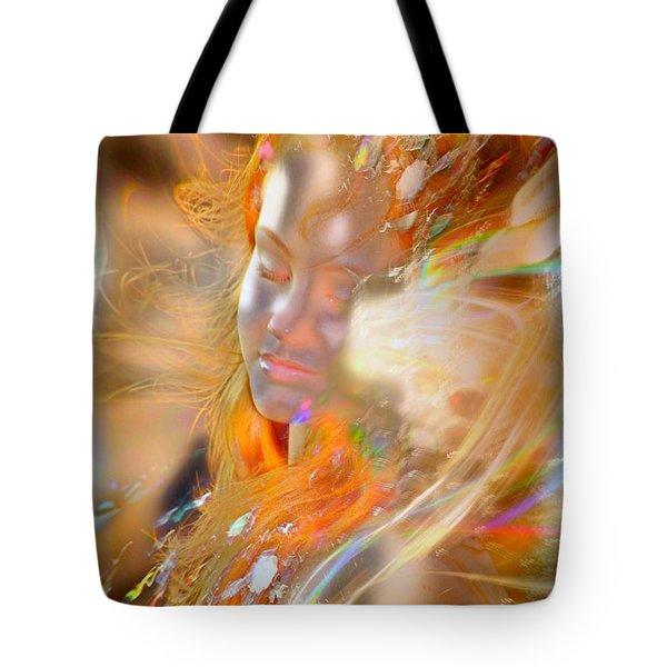 Goddess Of Rainbows Tote Bag
