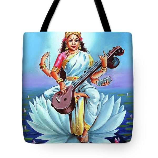 Goddess Of Wisdom And Knowledge Tote Bag