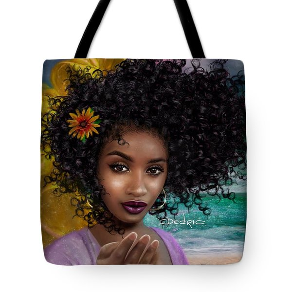 Tote Bag featuring the digital art Goddess Oshun by Dedric Artlove W