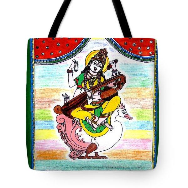 Goddess Saraswati Tote Bag