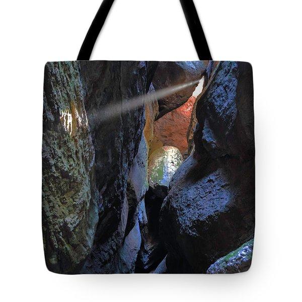 Godray At Bear Gulch Cave Tote Bag