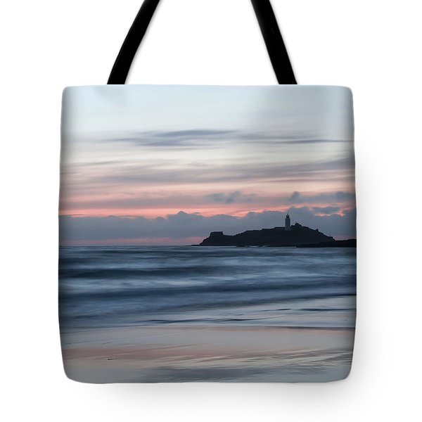 Godrevy Lighthouse From The Beach Tote Bag