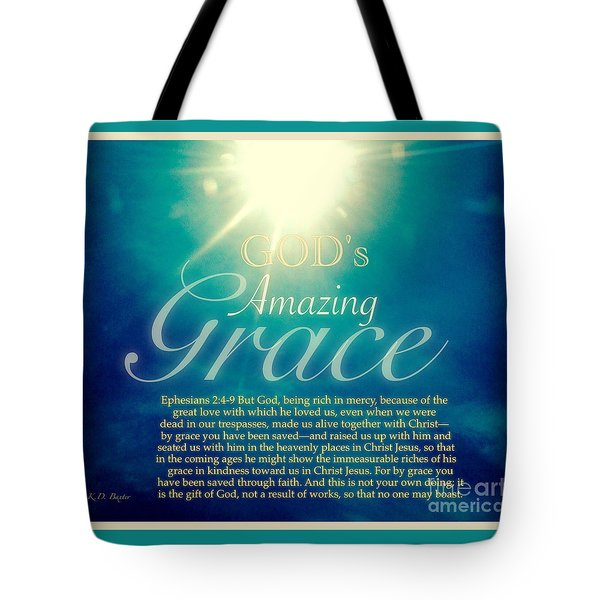 God's Amazing Gift Of Grace Tote Bag