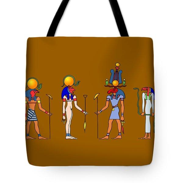 Gods And Goddess Of Ancient Egypt Tote Bag