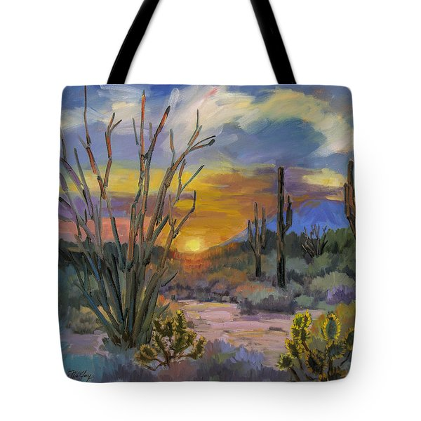 God's Day - Sonoran Desert Tote Bag by Diane McClary