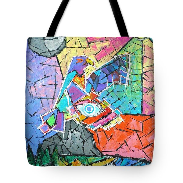 God's Eye, Like Eagle, Roams Earth, Night And Day Tote Bag