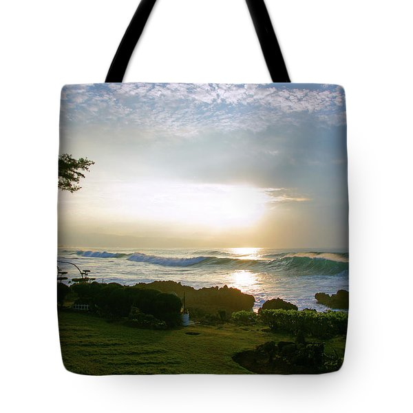 God's Giant Spotlight Tote Bag by Kevin Smith
