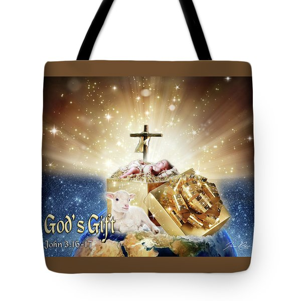 Tote Bag featuring the digital art God's Gift by Jennifer Page