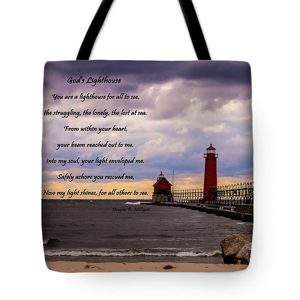 God's Lighthouse Tote Bag