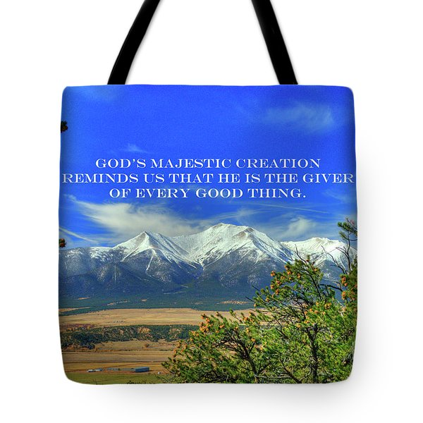 God's Majestic Creation Tote Bag