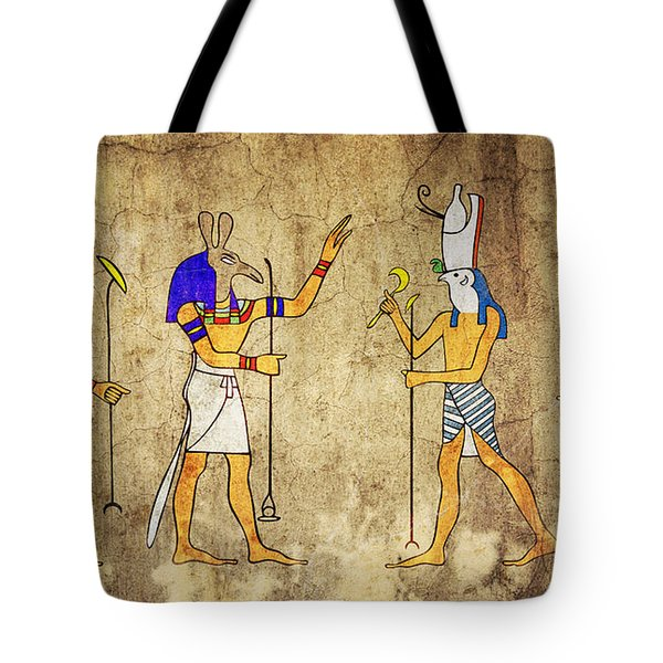 Gods Of Ancient Egypt Tote Bag by Michal Boubin
