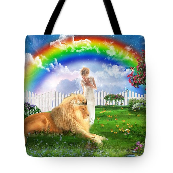 Tote Bag featuring the digital art God's Perfect Promise  by Dolores Develde
