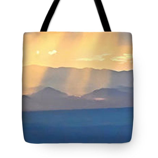 God's Rays Over The Great Basin  Tote Bag