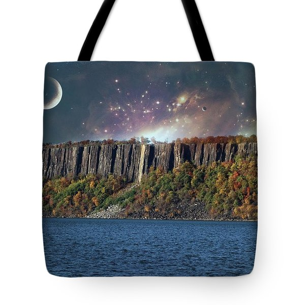 God's Space Over Planet Earth Tote Bag