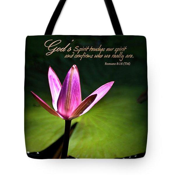 God's Spirit Tote Bag by Carolyn Marshall