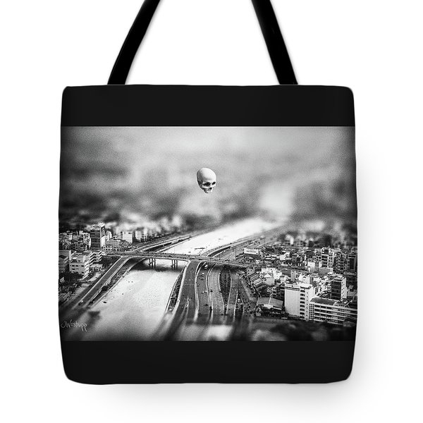 Tote Bag featuring the digital art Godseye 2 by Joseph Westrupp