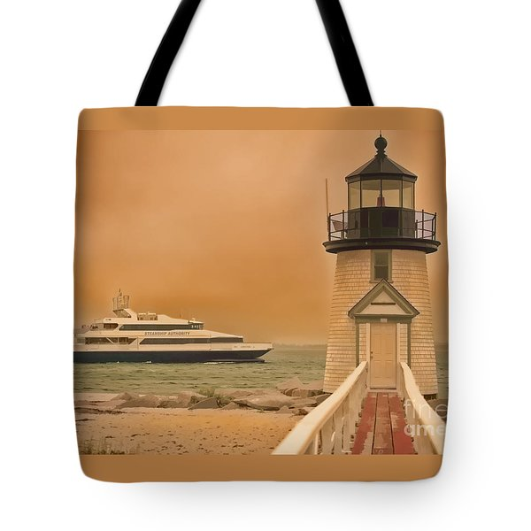 Godspeed At Brant Point Nantucket Island Tote Bag by Jack Torcello