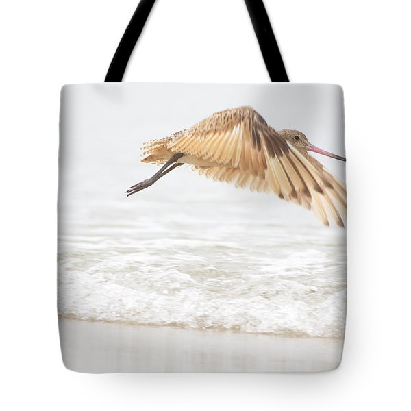 Godwit Over The Ocean Tote Bag