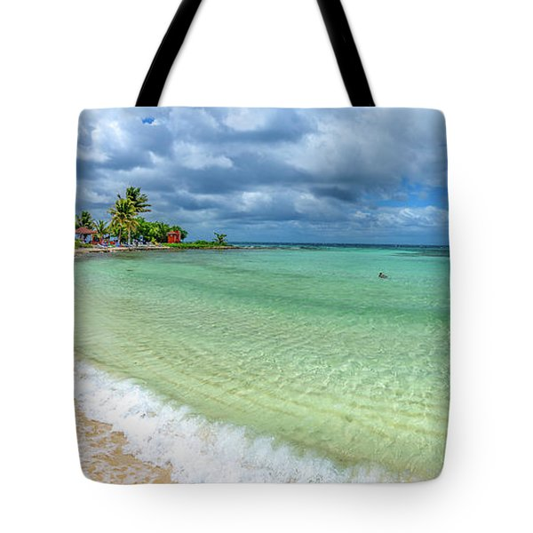 Goff's Caye Belize Pano Tote Bag