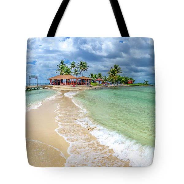 Goff's Caye Belize Pano Tote Bag