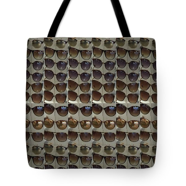 Tote Bag featuring the photograph Goggles Fashion Couture Pattern Tshirts Pillows Curtains Towels Christmas Holidays Festivals Graphic by Navin Joshi