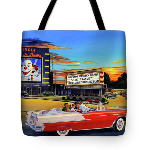 Goin' Steady - The Circle Drive-in Theatre Tote Bag