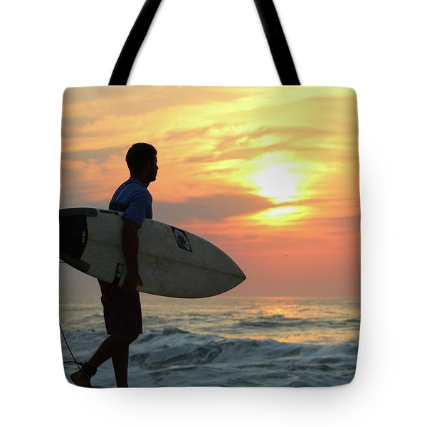 Tote Bag featuring the photograph Goin Surfing by Robert Banach