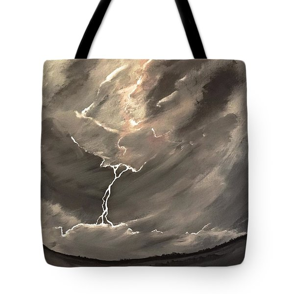 Going Down A Storm Tote Bag