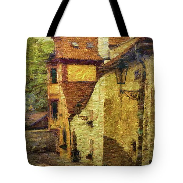 Going Downhill And Round The Bend Tote Bag