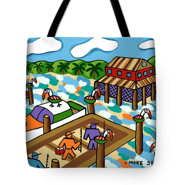 Going Fishing - Cedar Key Tote Bag