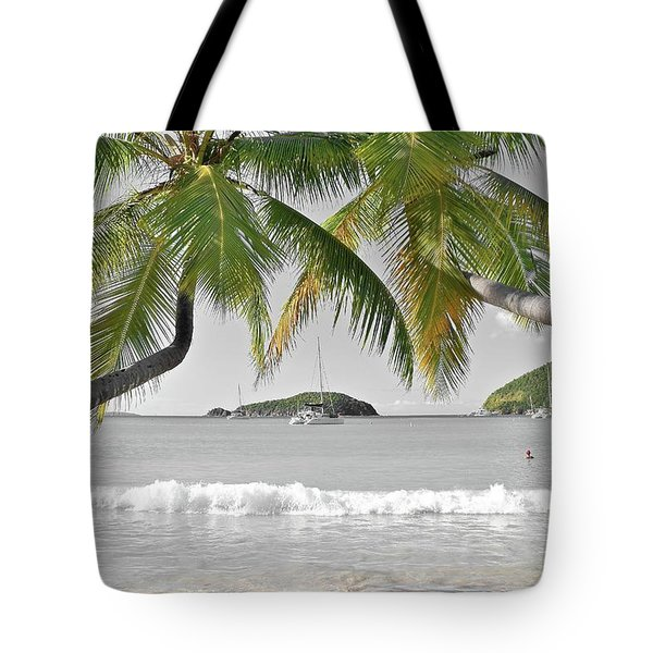 Tote Bag featuring the photograph Going Green To Save Paradise by Frozen in Time Fine Art Photography