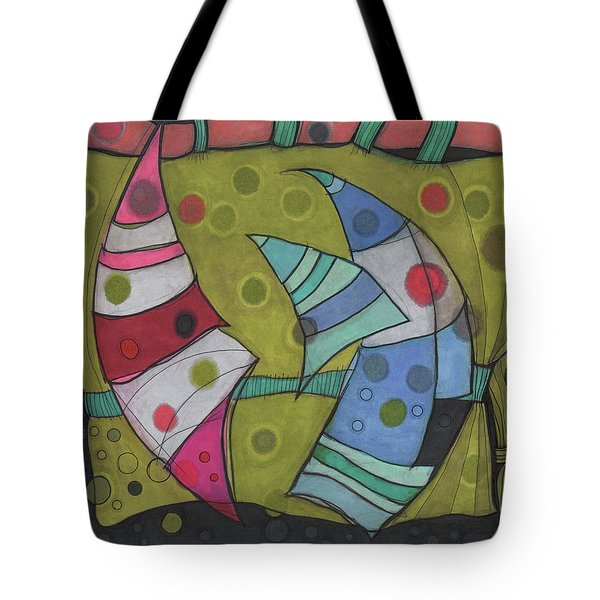 Going In Circles Tote Bag by Sandra Church