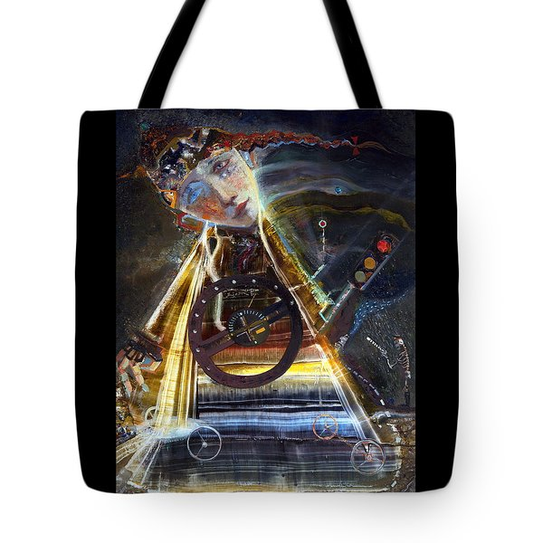 Going On Red Light Tote Bag by Mikhail Savchenko