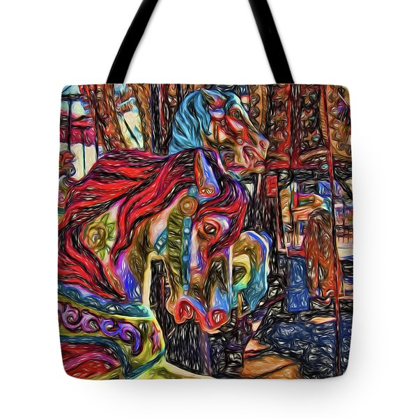 Going 'round II Tote Bag