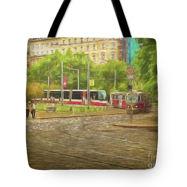 Going Slowly Round The Bend Tote Bag