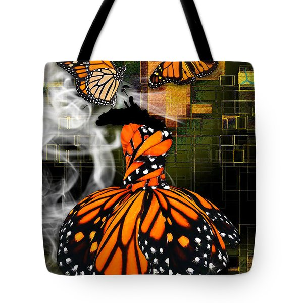 Tote Bag featuring the mixed media Going The Distance by Marvin Blaine