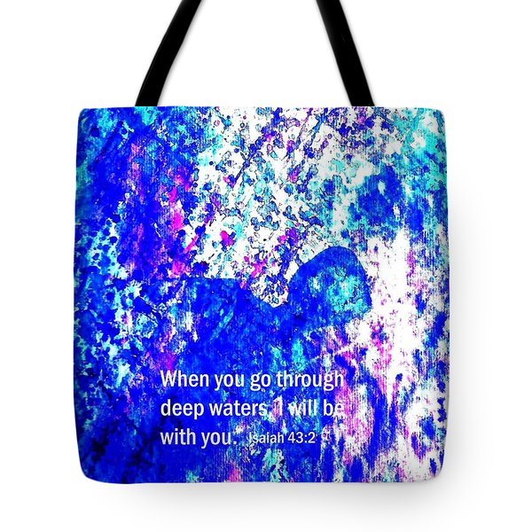 Going Through Deep Waters Tote Bag by Hazel Holland