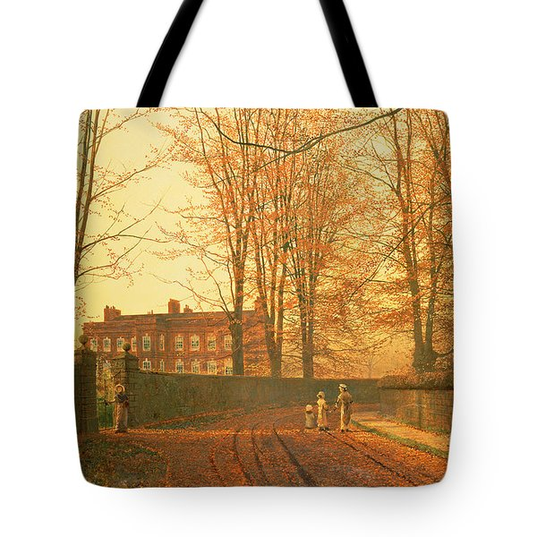 Going To Church Tote Bag by John Atkinson Grimshaw