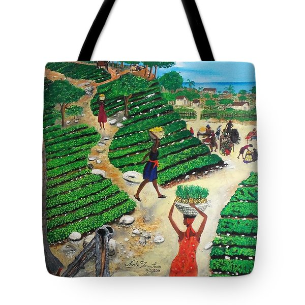 Going To The Marketplace #4 -  Walking Through The Terraces Tote Bag