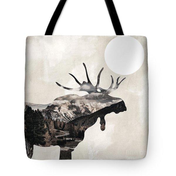Going Wild Moose Tote Bag