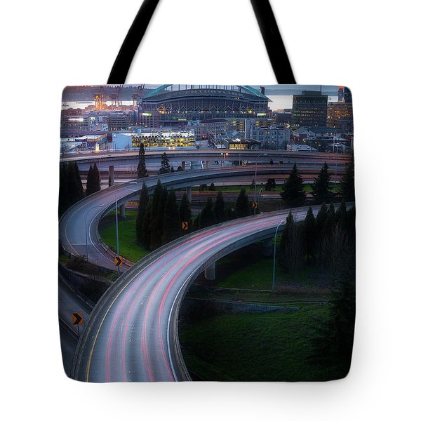 Gold And Arches Tote Bag by Ryan Manuel