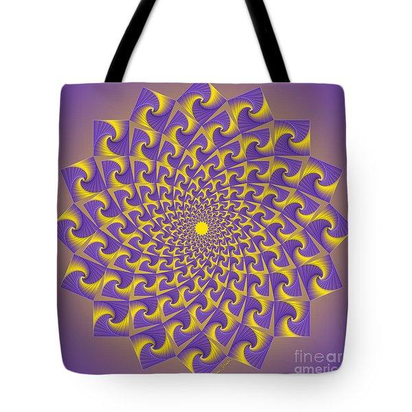 Gold And Purple Circle Of Diamonds Tote Bag